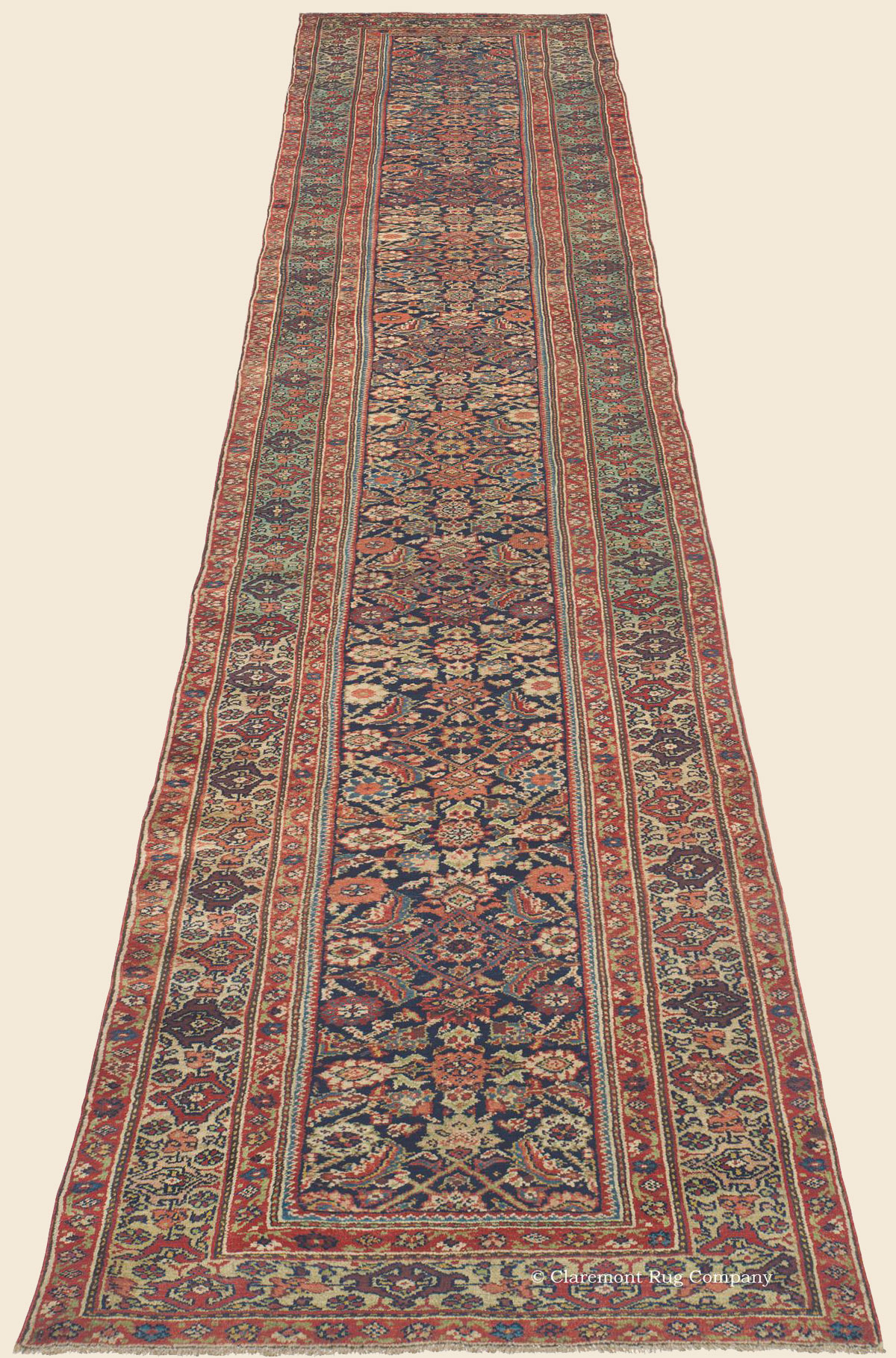 Kurdish Bijar Bidjar Runner Northwest Persian Antique
