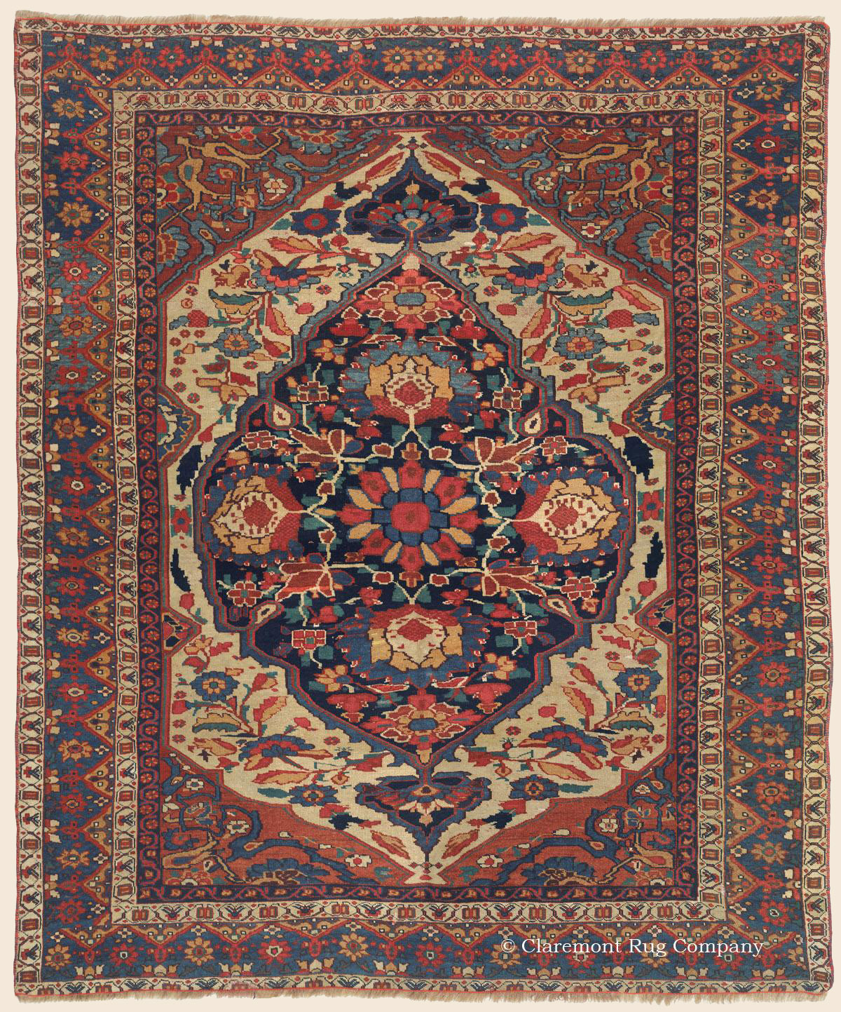 ARAB KHAMSEH, Southwest Persian Antique Rug