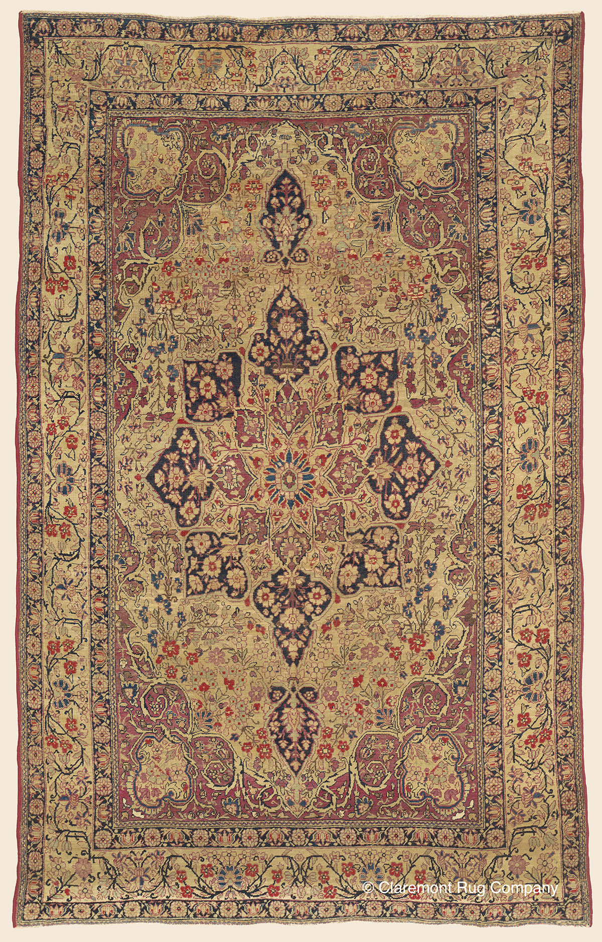 Laver Kirman Southeast Persian Antique Rug Claremont