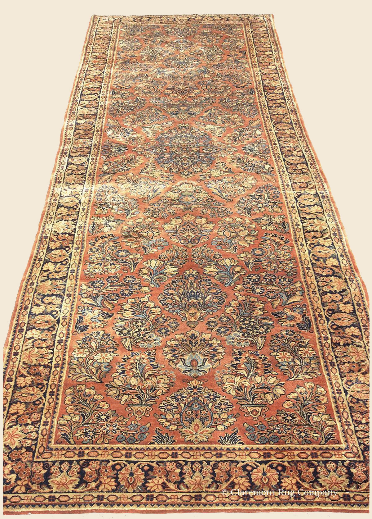Mahajiran Sarouk Runner West Central Persian Antique Rug