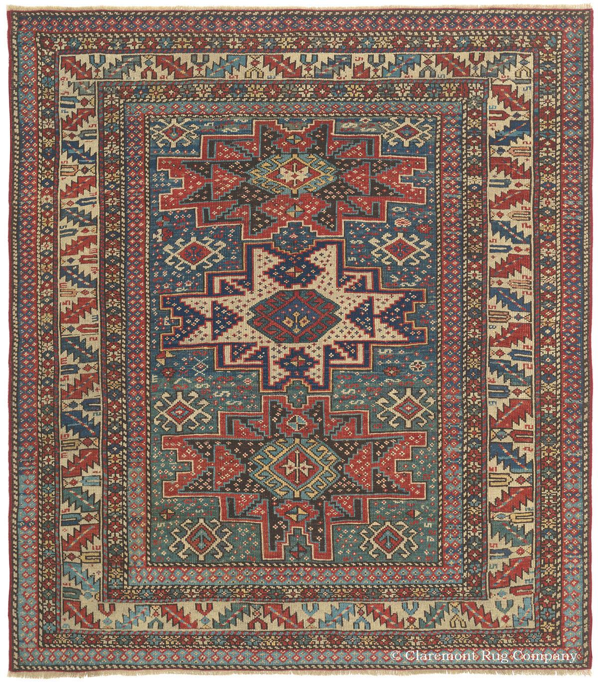 Caucasian Lesghi Antique Rug