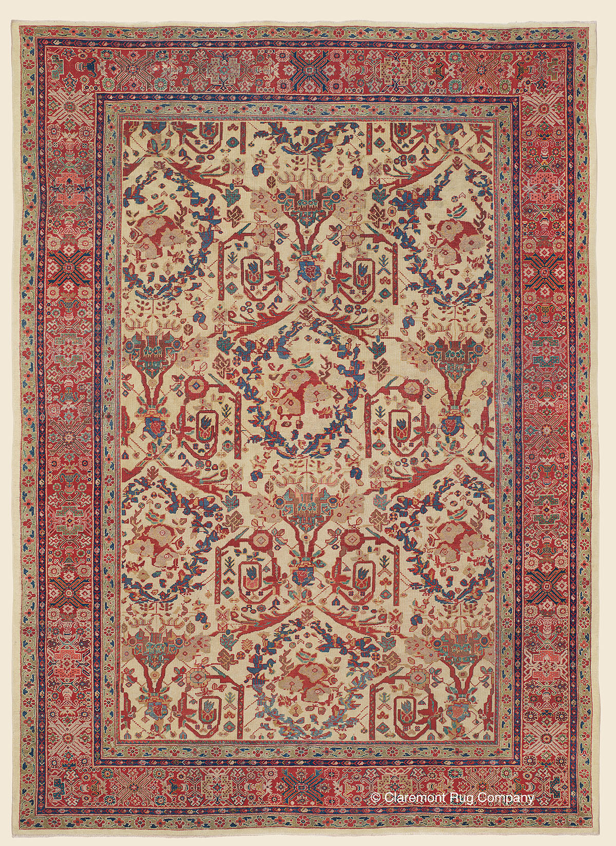 Ziegler Sultanabad West Central Persian Antique Rug