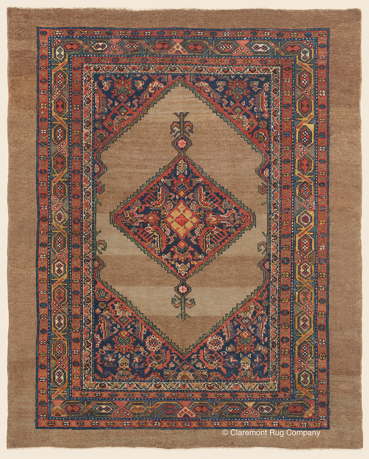 Malayer Camelhair Northwest Persian Antique Rug