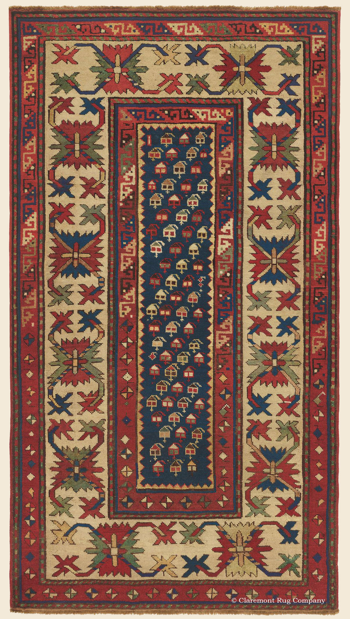 Kazak Southern Central Caucasian Antique Rug Claremont