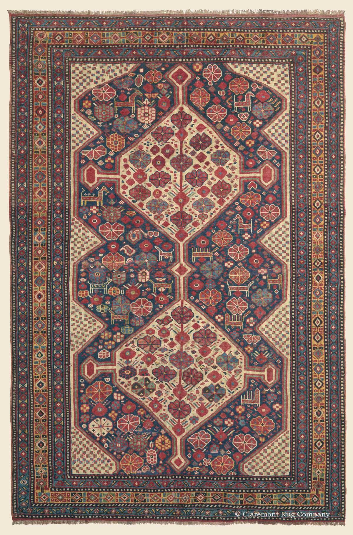qashqai southwest persian antique rug claremont rug company. Black Bedroom Furniture Sets. Home Design Ideas