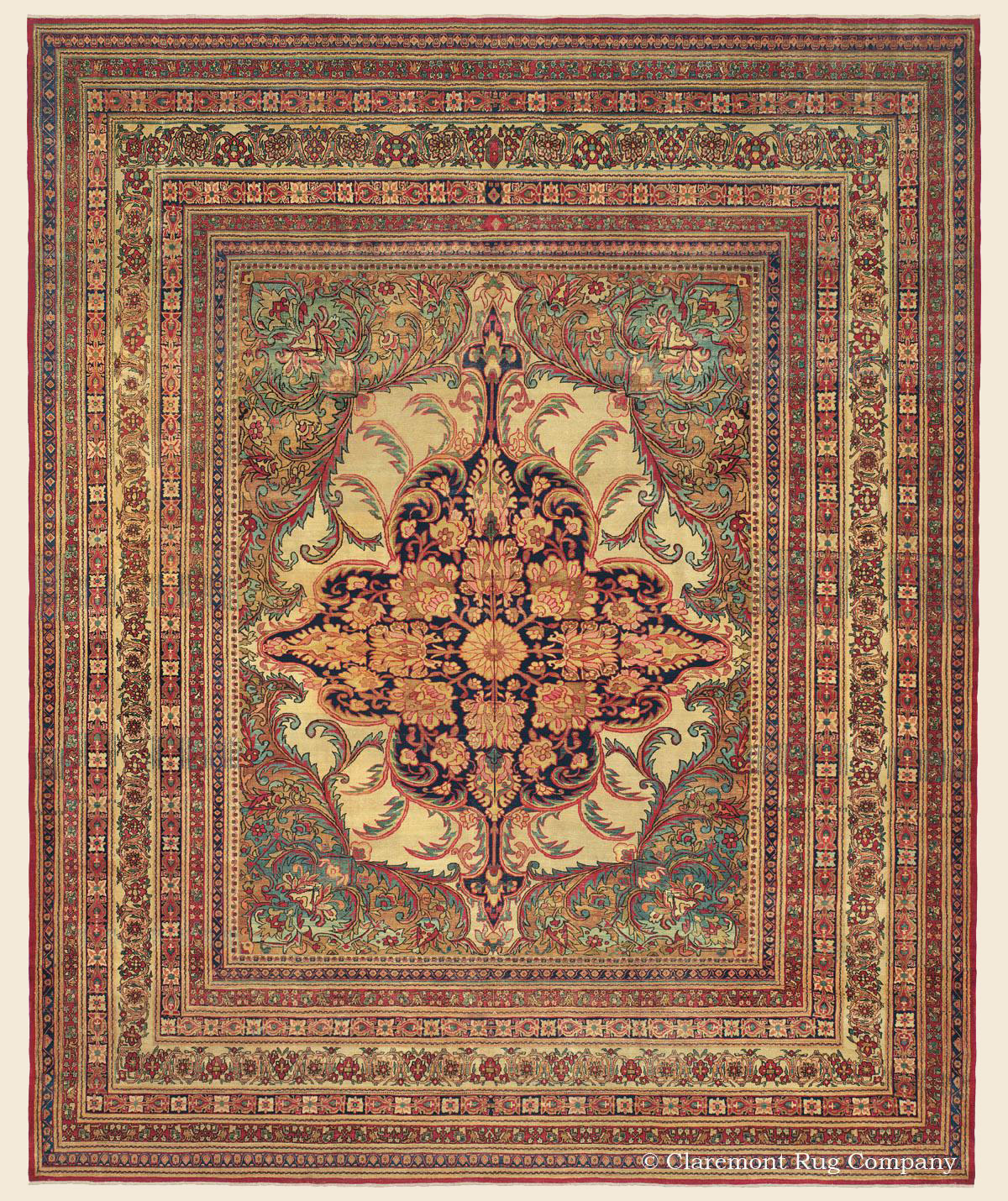 KERMANSHAH, Southeast Persian Antique Rug