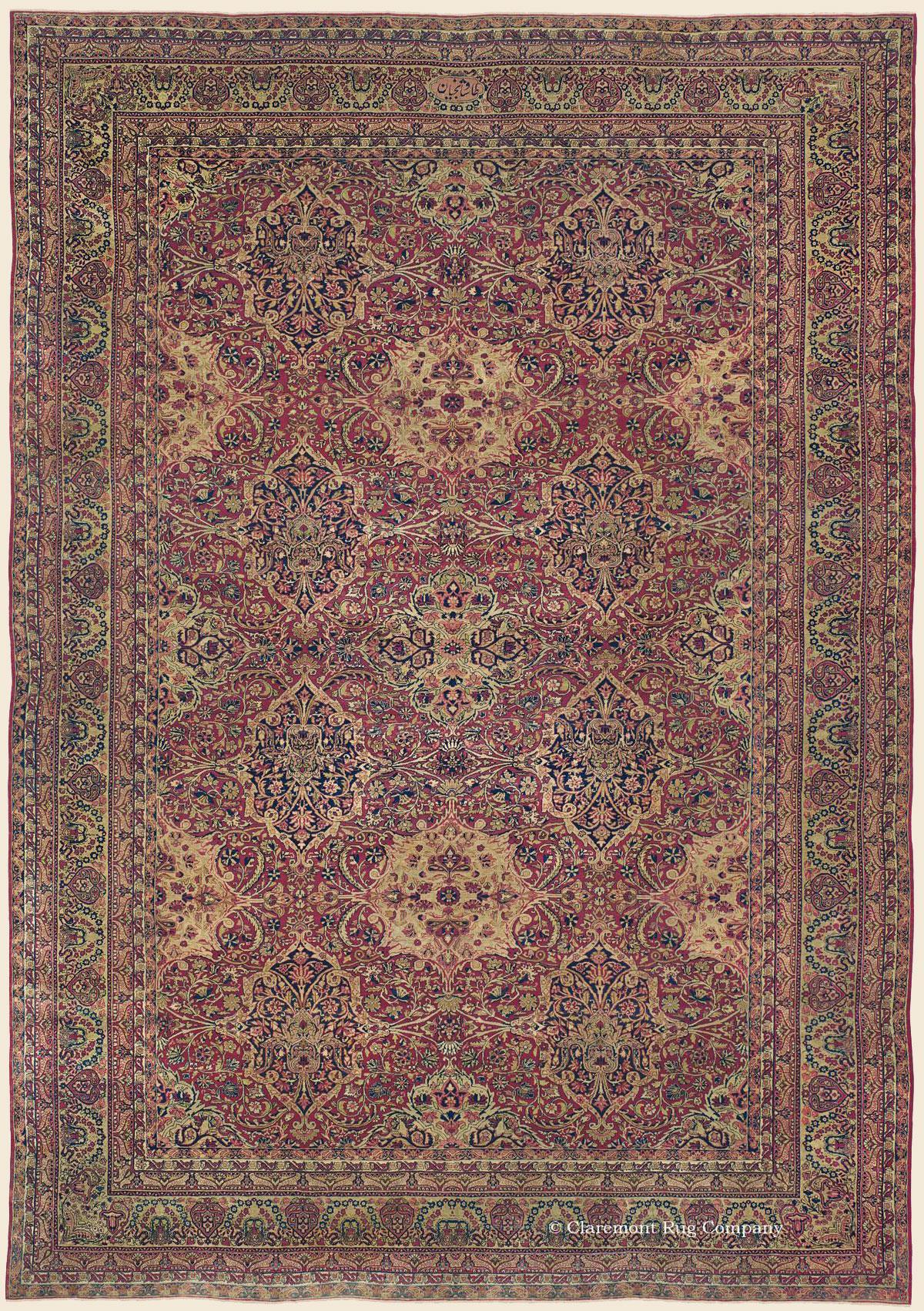 Laver Kirman Southeast Persian Antique Rug Claremont