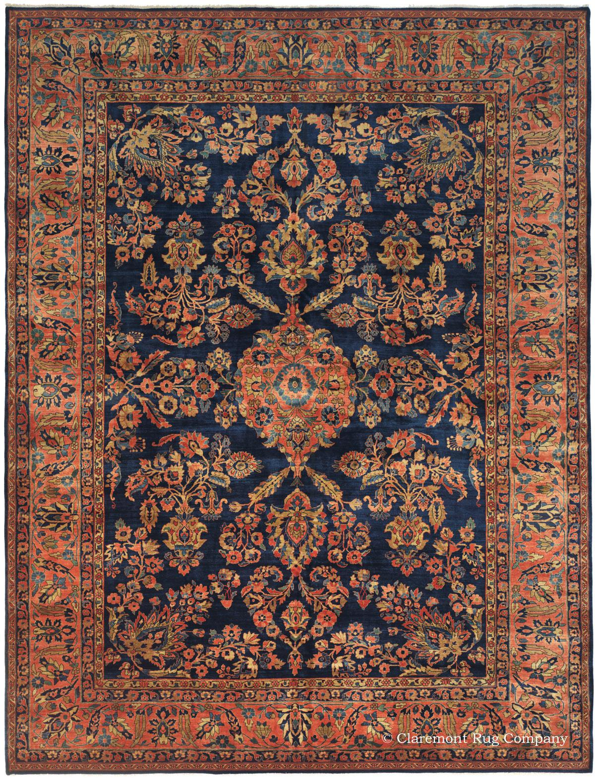 MAHAJIRAN SAROUK, West Central Persian Antique Rug - Claremont Rug Company