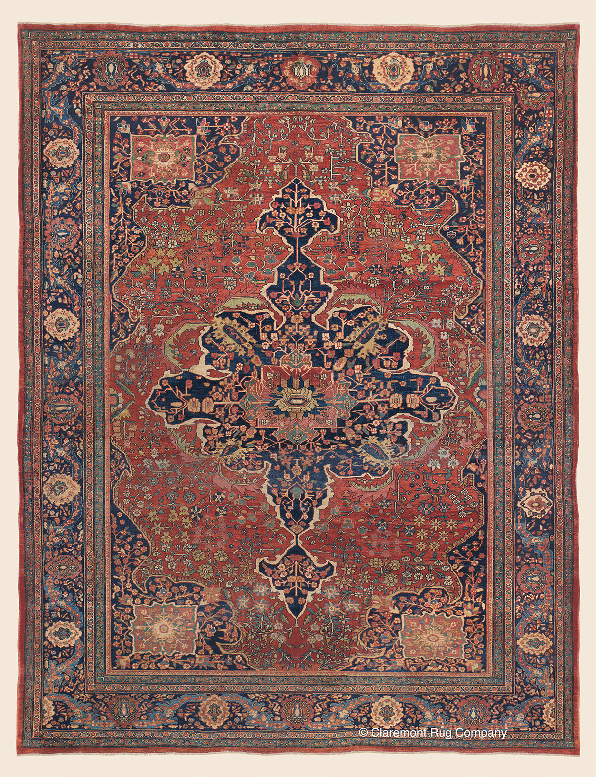 Antique Persian Ferahan Sarouk Rug
