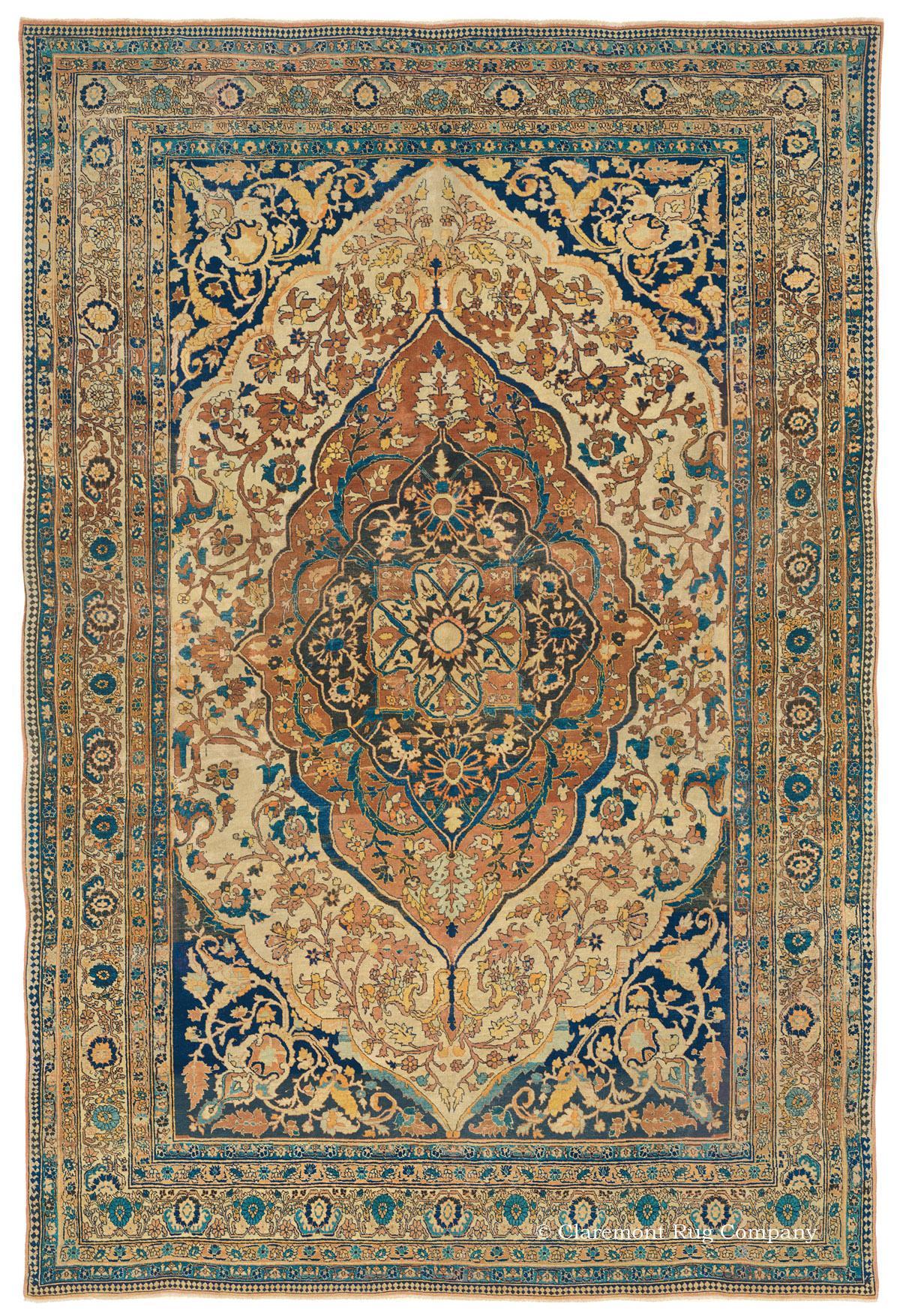 Hadji Jallili Tabriz Northwest Persian Antique Rug