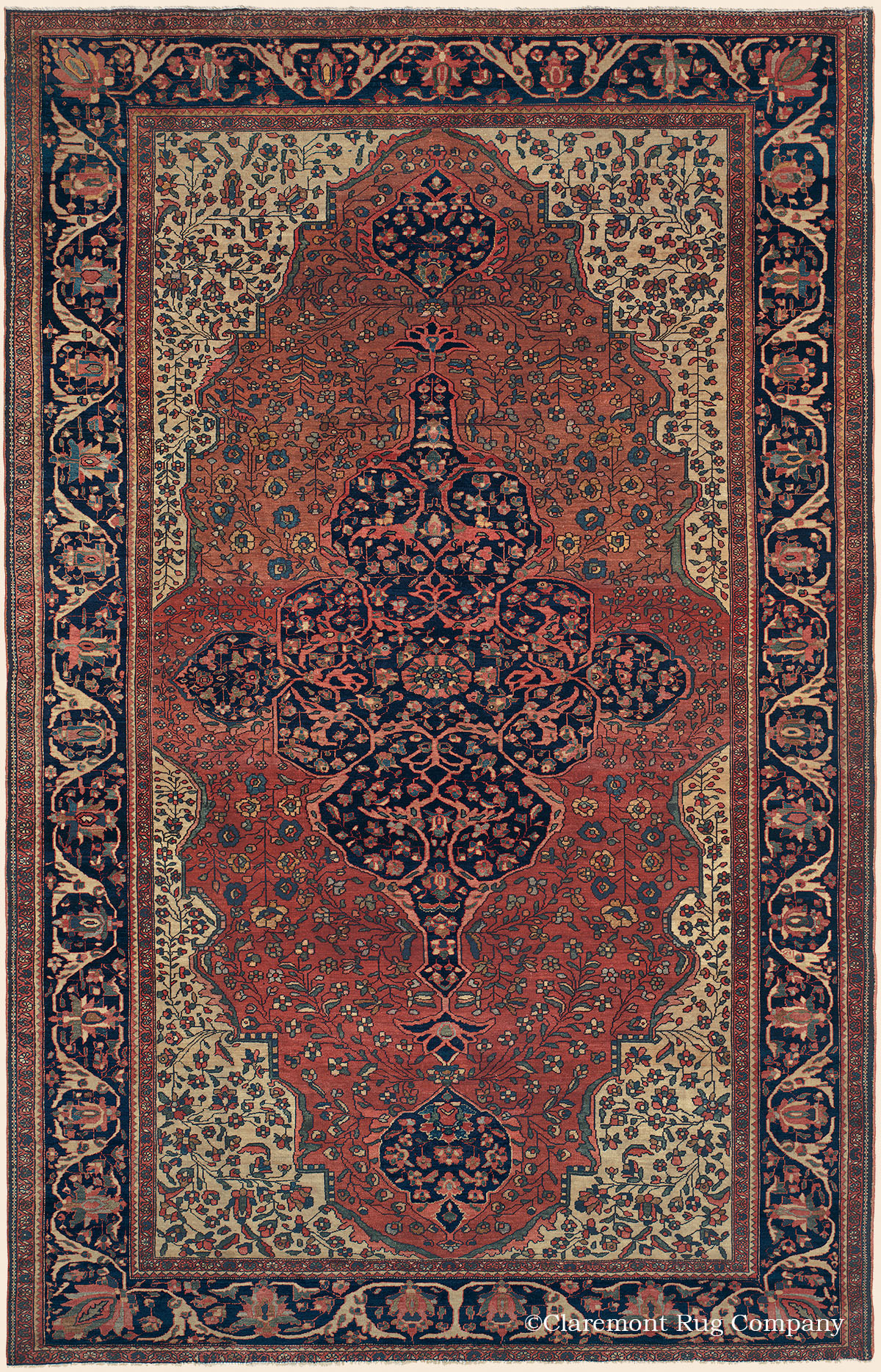 Ferahan Sarouk West Central Persian Antique Rug