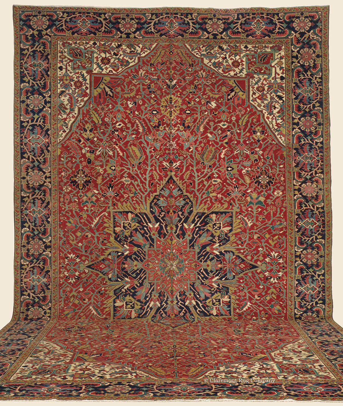 Antique Persian Heriz Rug Bb2402: HERIZ, Northwest Persian Antique Rug