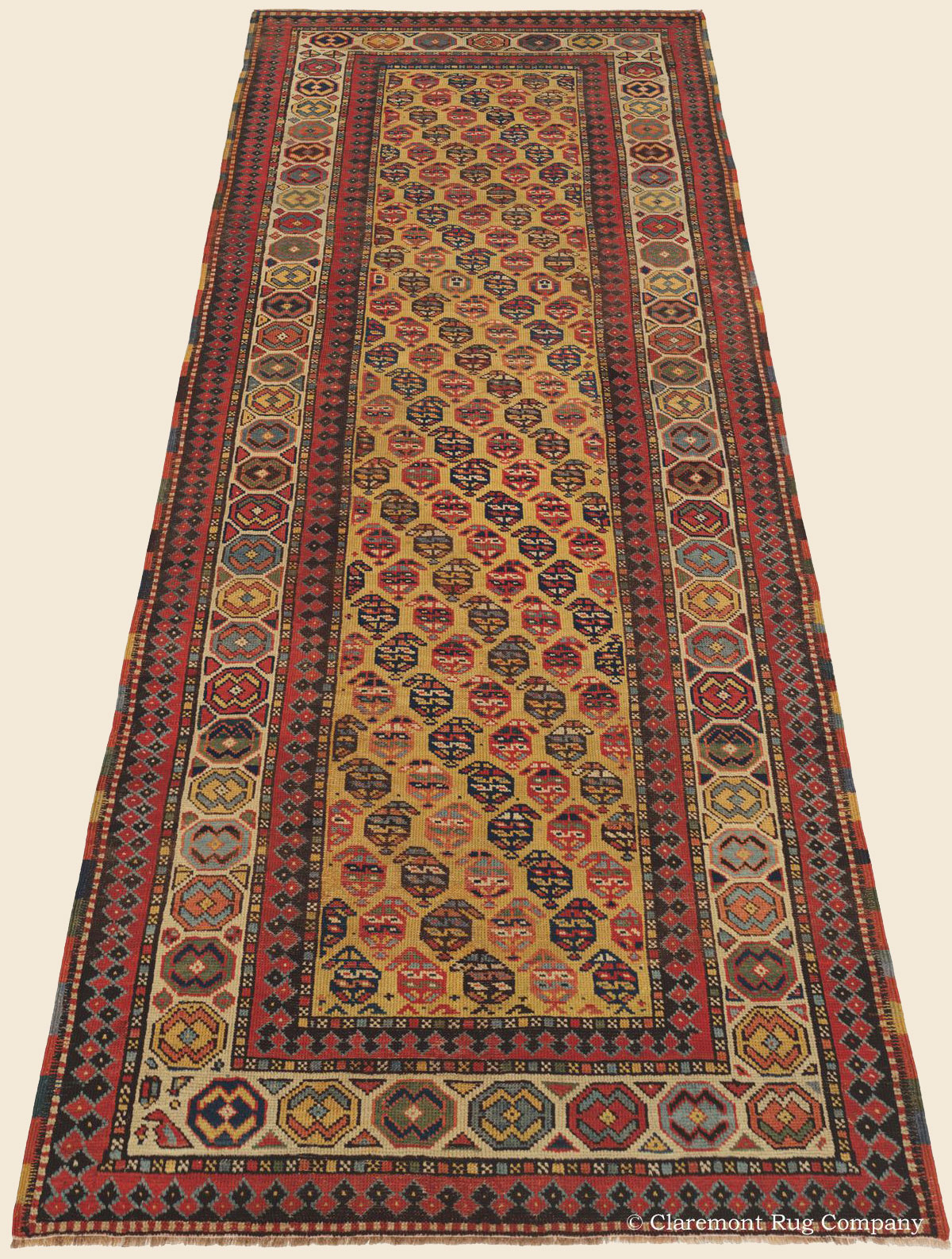 Gendje runner southern caucasian antique rug claremont for Southern crafted homes inventory