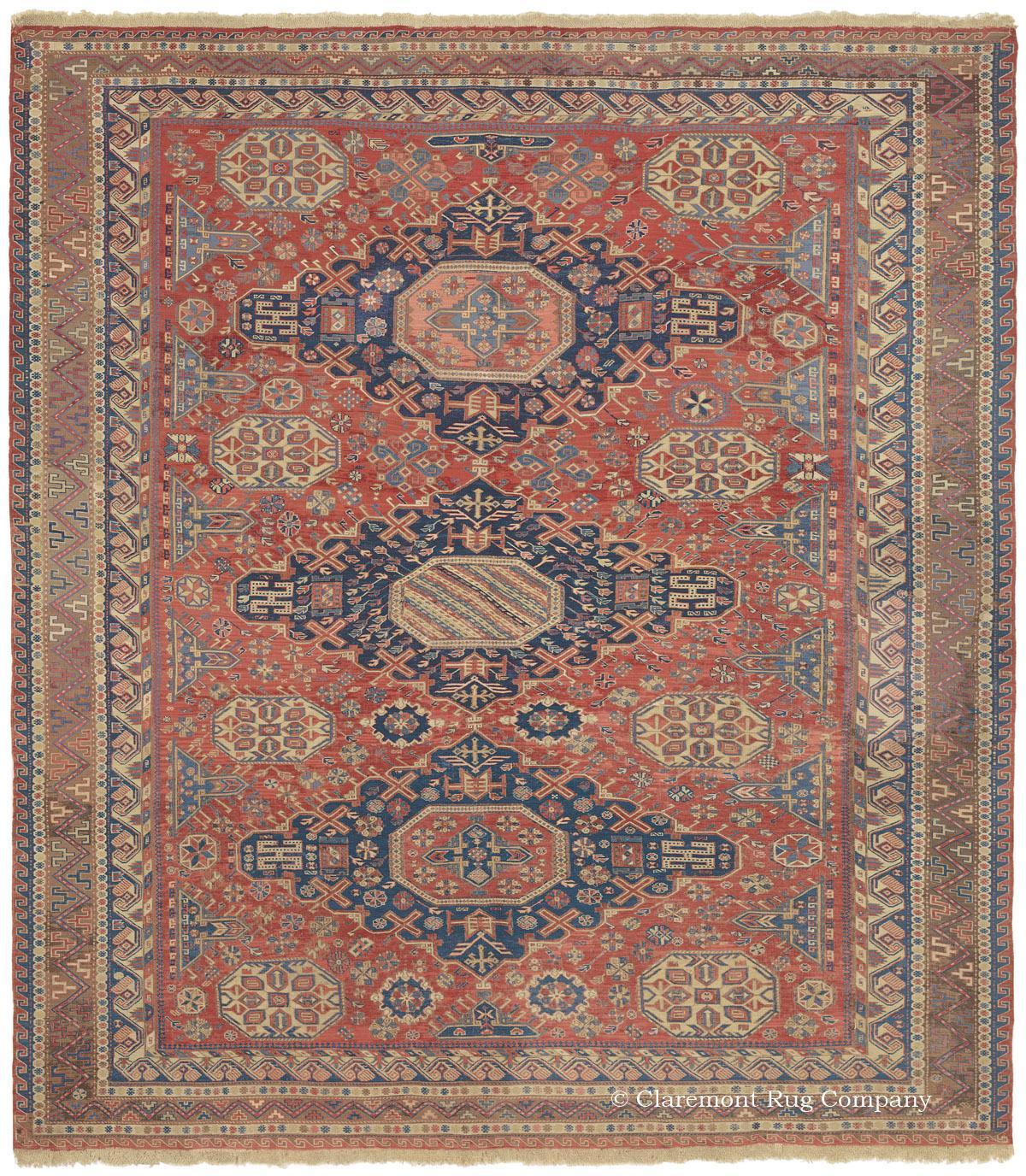 Caucasian Kilim Rug: SOUMAK KILIM, Southern Caucasian Antique Rug