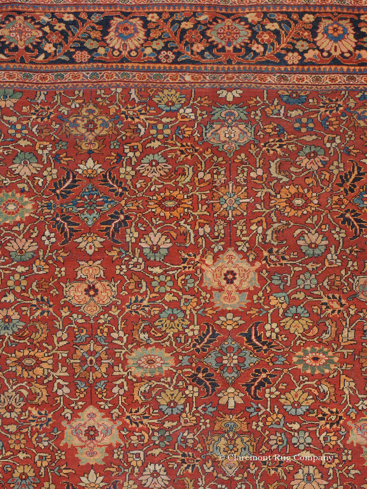 Antique Persian Sultanabad Rug, Palace