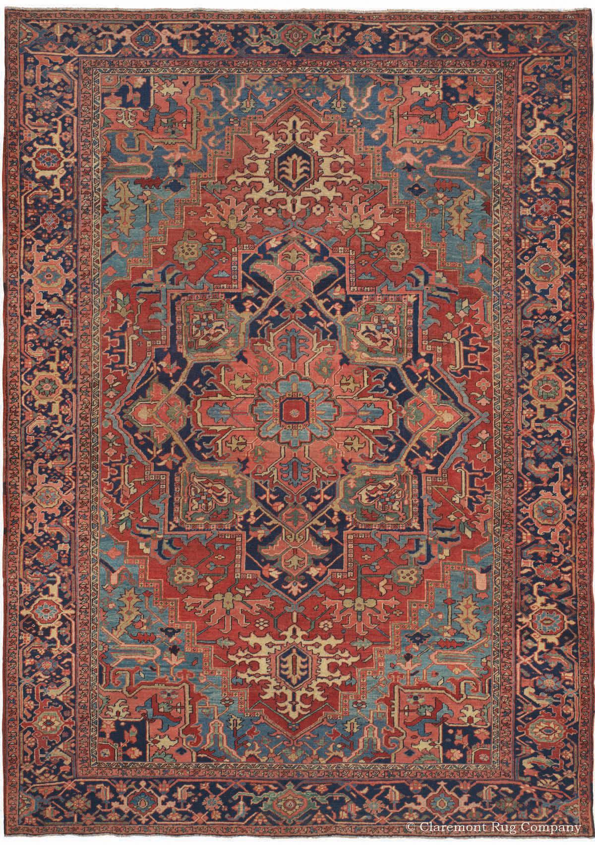 Serapi Heriz Northwest Persian Antique Rug Claremont
