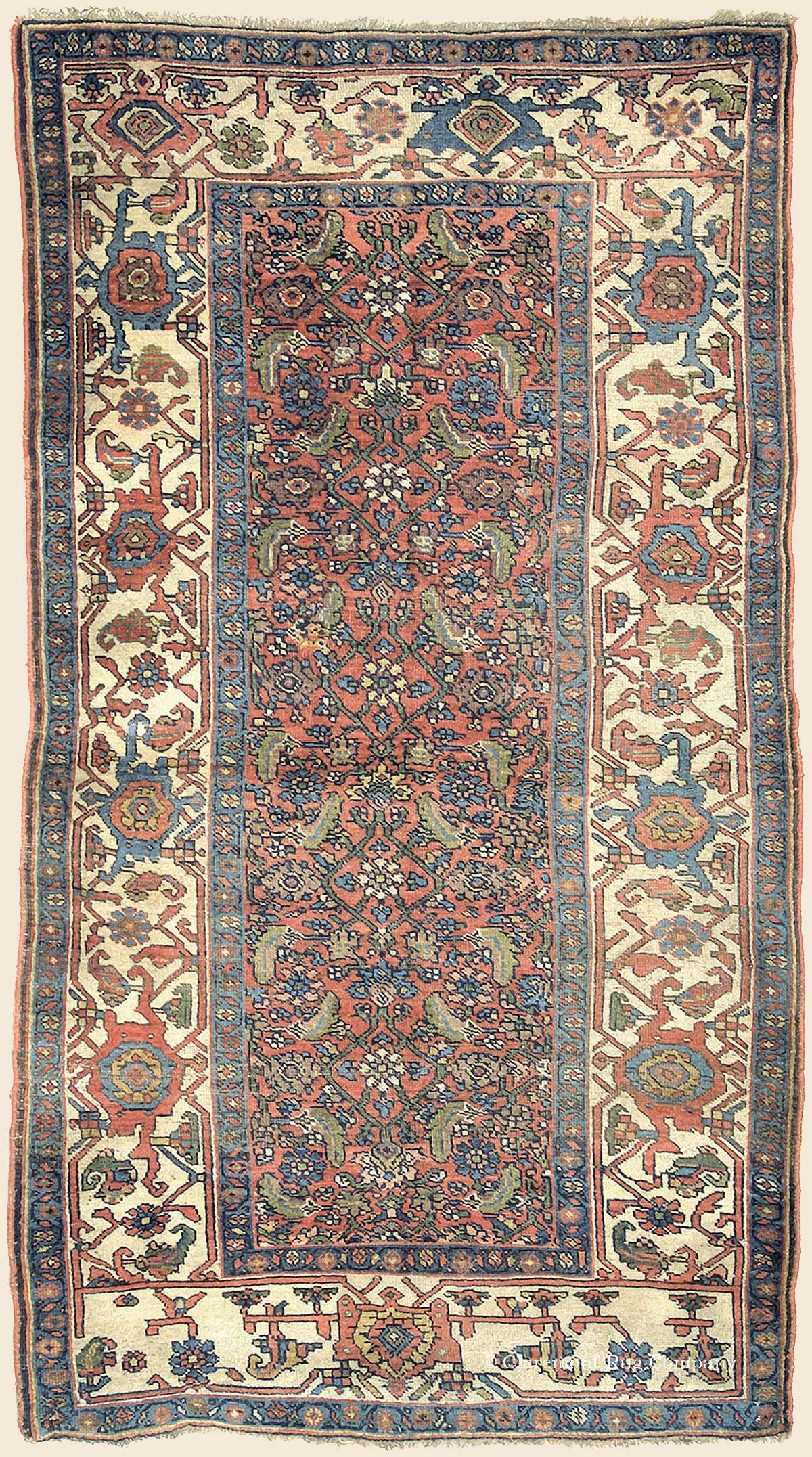 Kurdish Bijar Bidjar Northwest Persian Antique Rug