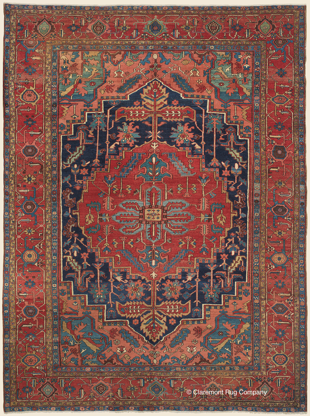 Serapi Heriz Northwest Persian Antique Rug Claremont