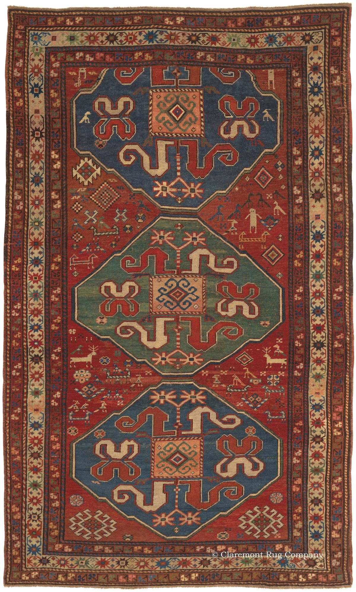 Cloudband Kazak Southern Central Caucasian Antique Rug