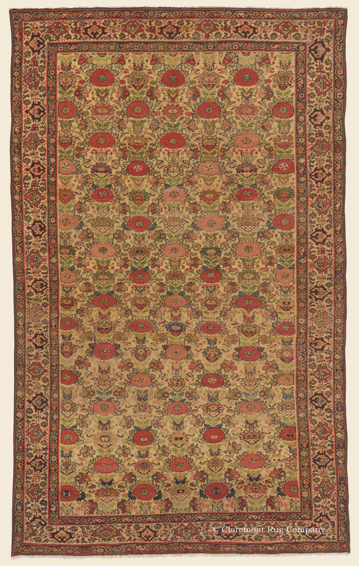 Ferahan Quot Blossom Rug Quot West Central Persian Antique Rug