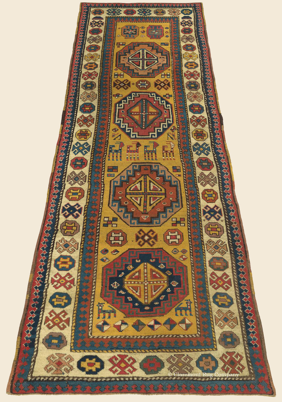 Kazak Runner Southern Central Caucasian Antique Rug