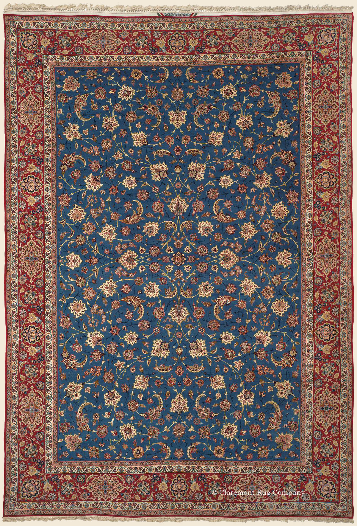 Isfahan Central Persian Antique Rug Claremont Rug Company