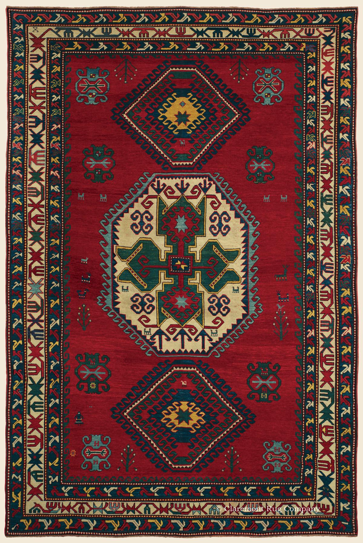 Lori Pambak Kazak Southern Central Caucasian Antique Rug