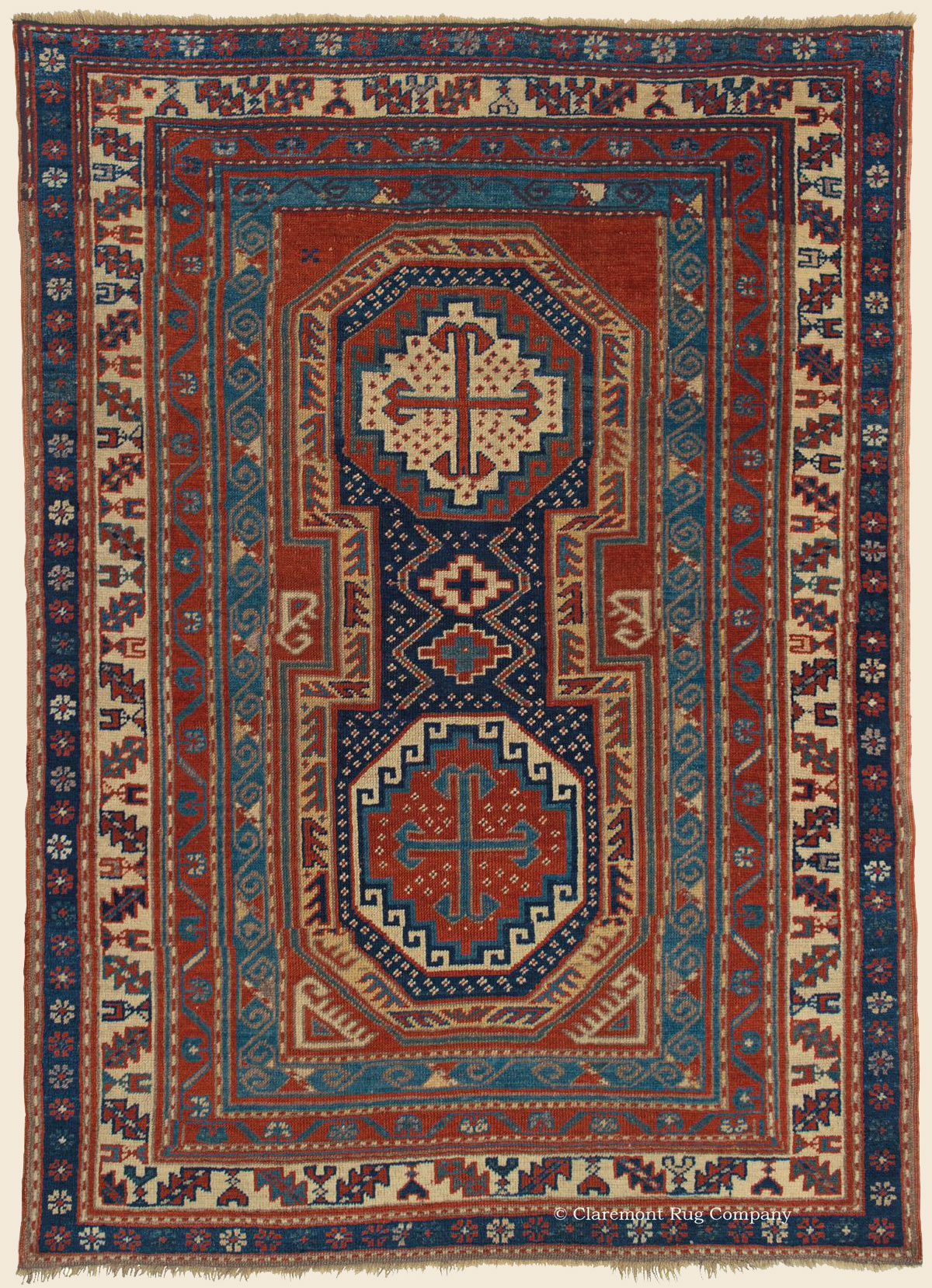 Keyhole kazak southern central caucasian antique rug for The rug company rugs