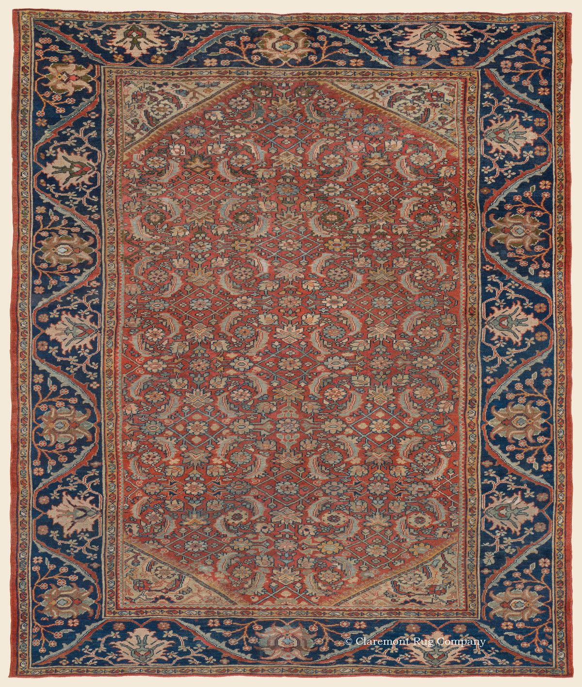 Persian Rugs Images: MAHAL, West Central Persian Antique Rug