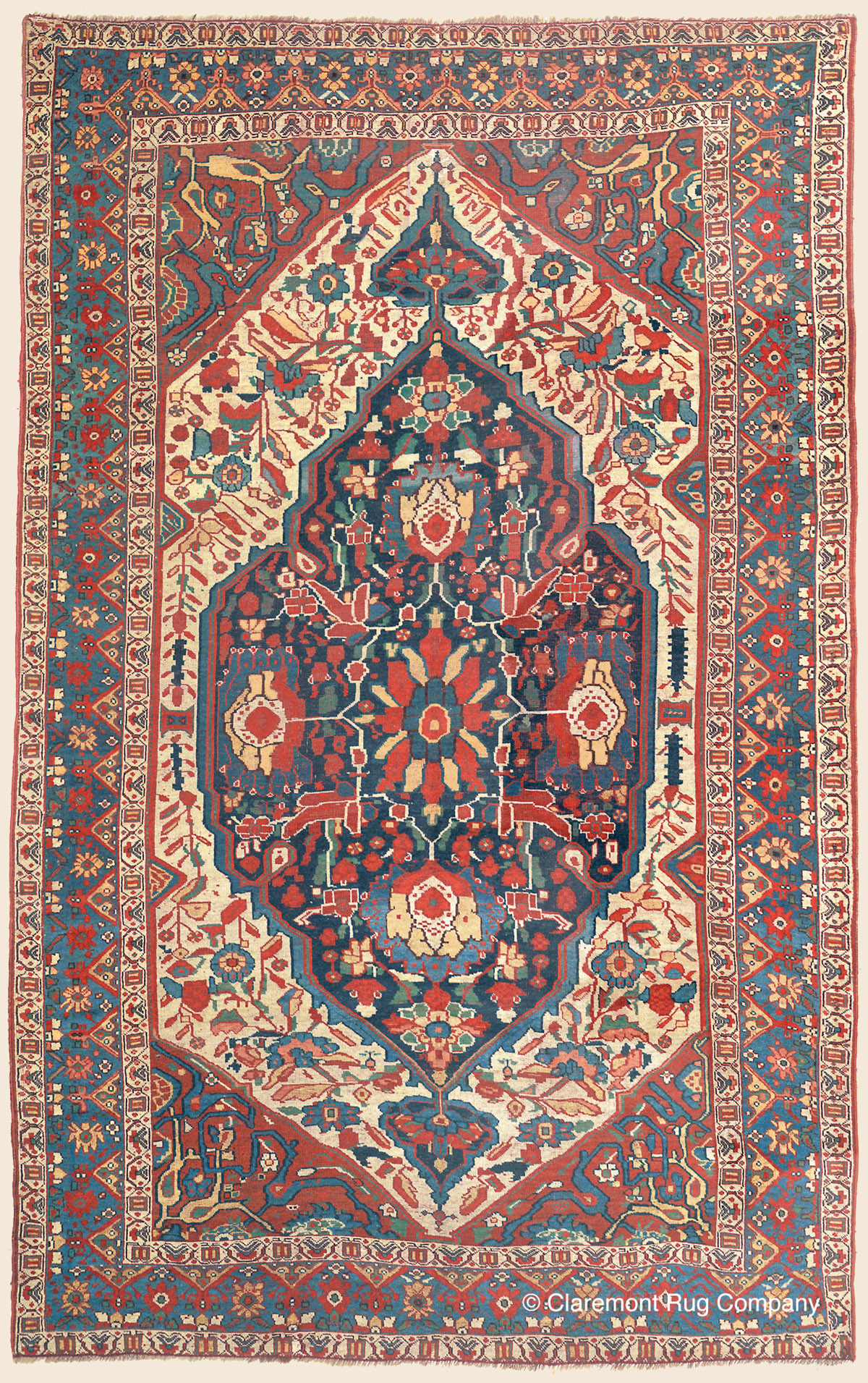 Arab Khamseh Southwest Persian Antique Rug Claremont