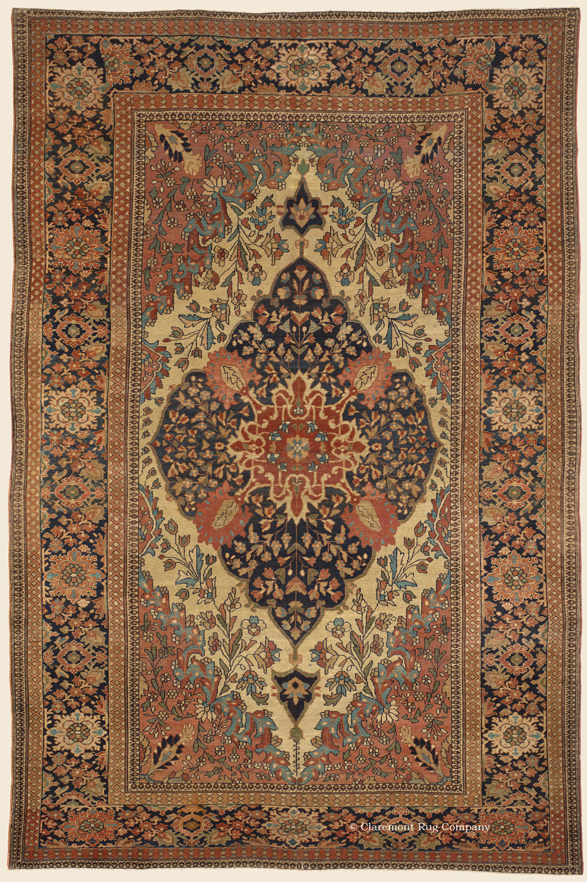Ferahan Sarouk West Central Persian Antique Rug Claremont Company