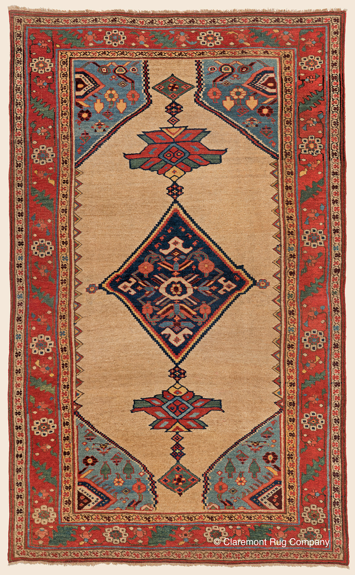 Bijar Camelhair Northwest Persian Antique Rug Claremont