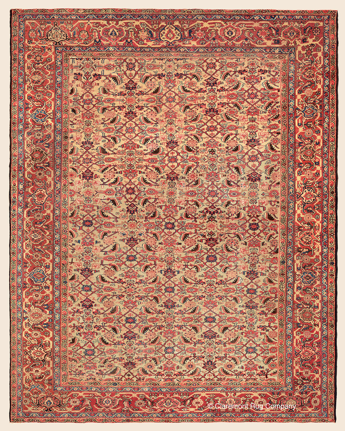Oriental Rugs Jupiter Florida: SULTANABAD, West Central Persian Antique Rug