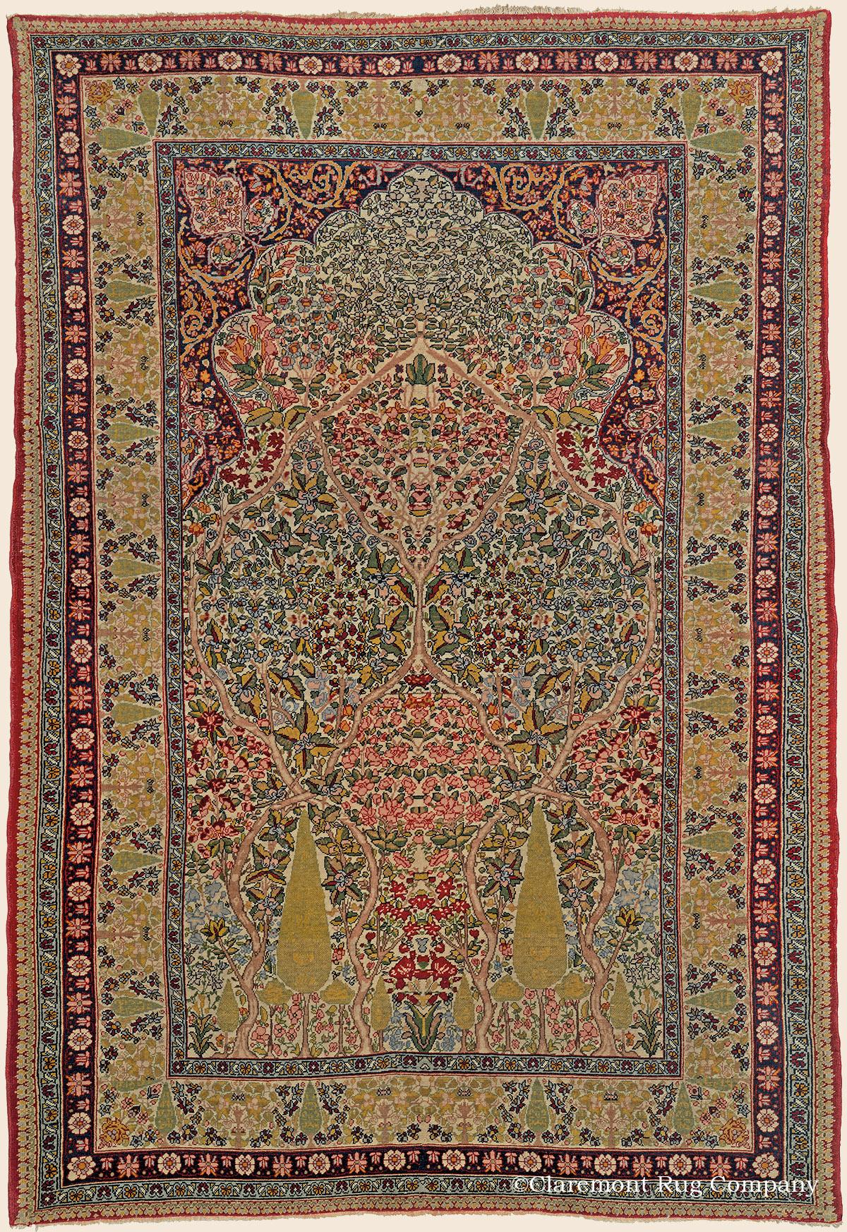 Laver Kirman Quot Tree Of Life Quot Southeast Persian Antique Rug