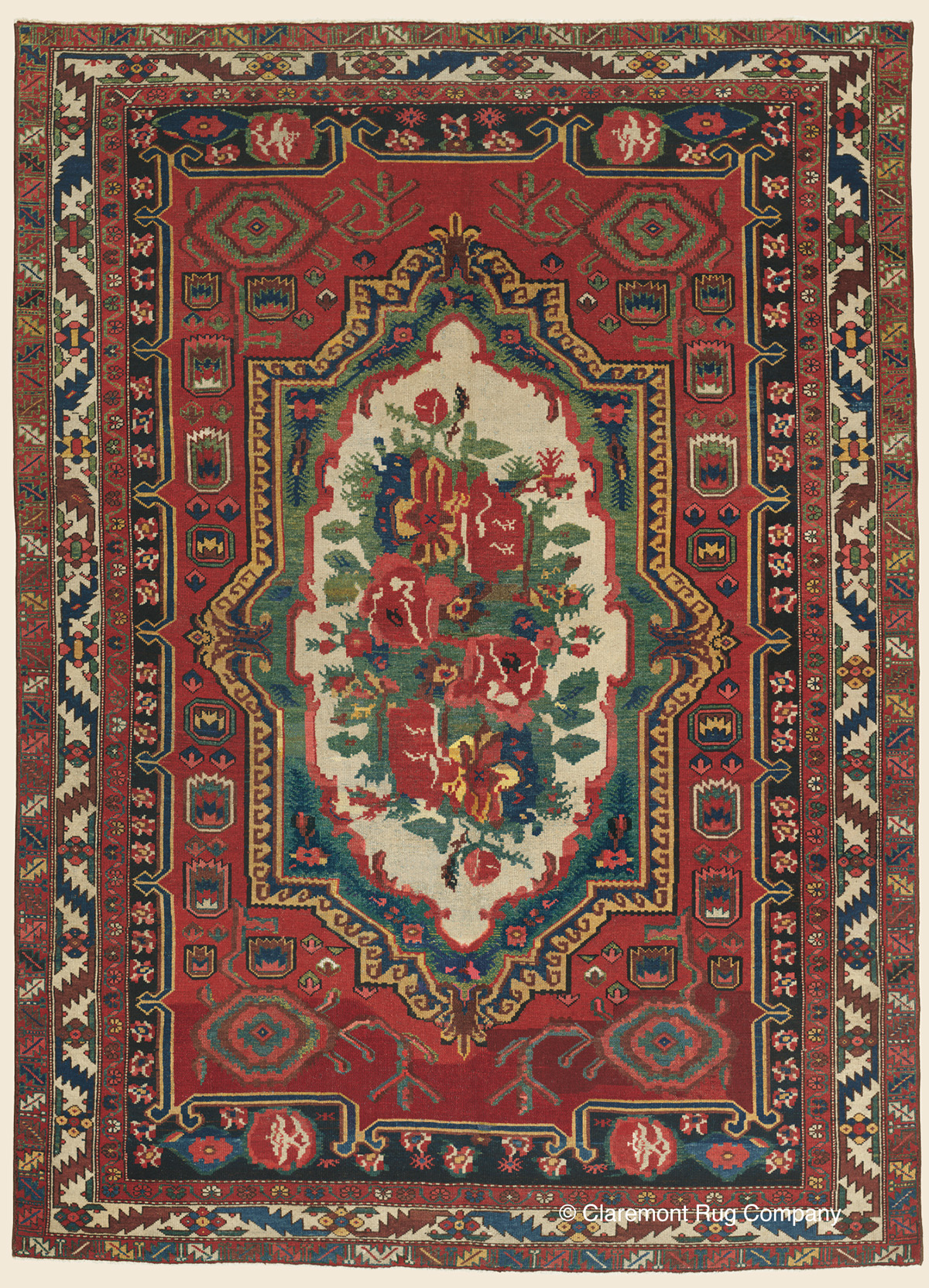Bakhtiari Central Persian Antique Rug Claremont Rug Company