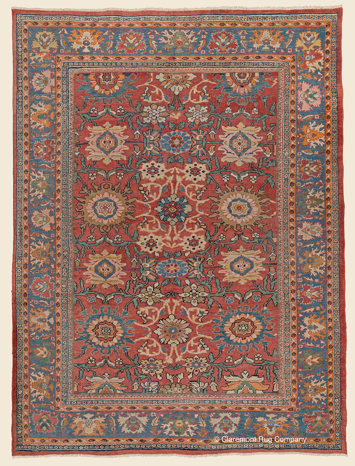 Mahal West Central Persian Antique Rug Claremont Rug