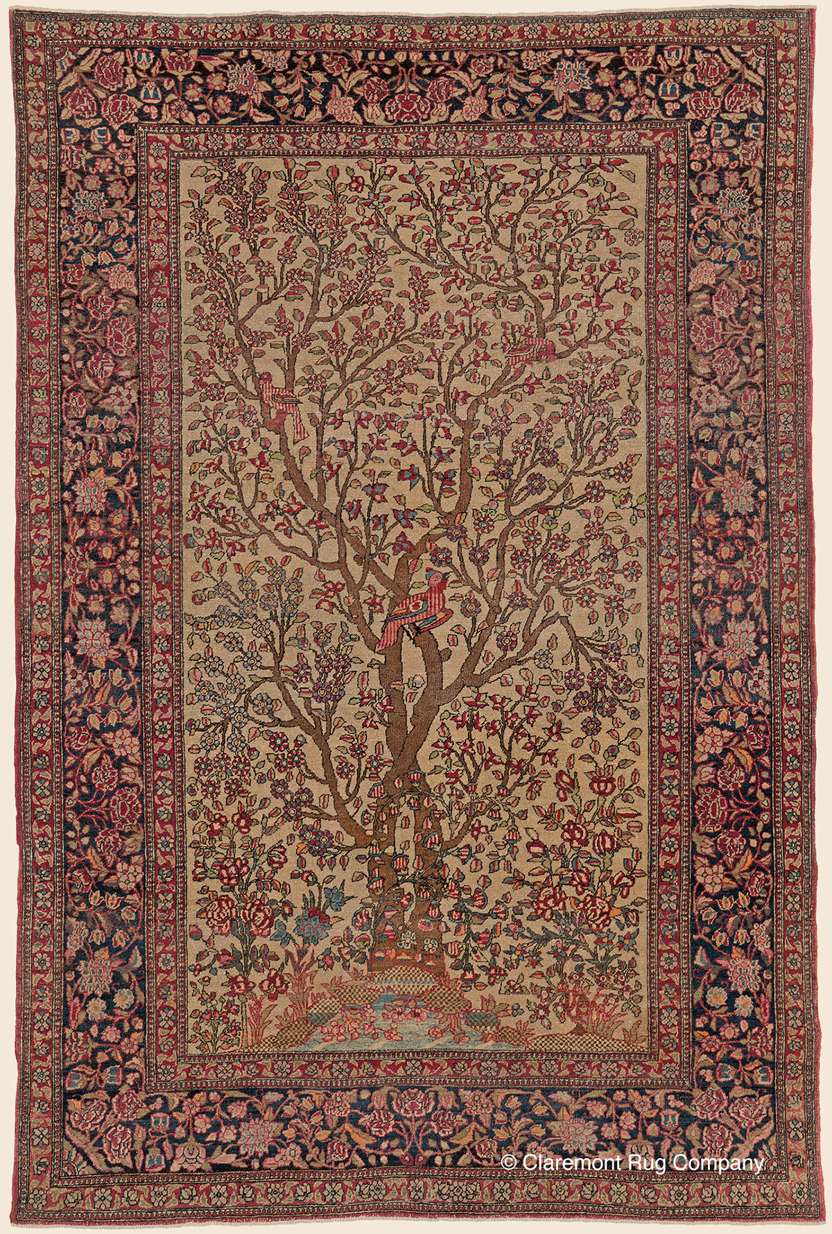 Isfahan Quot Tree Of Life Quot Central Persian Antique Rug