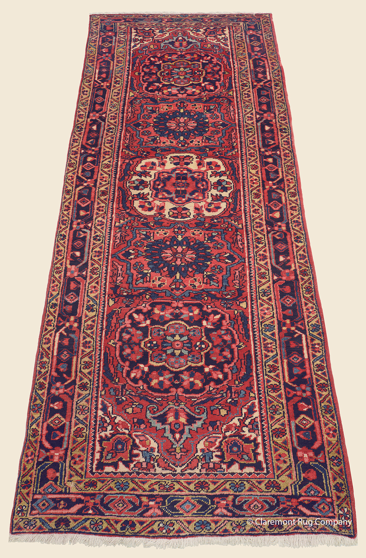 Vintage Northwest Persian 19th Century Heriz Neutral Decorative Collectible Oriental Area Rug