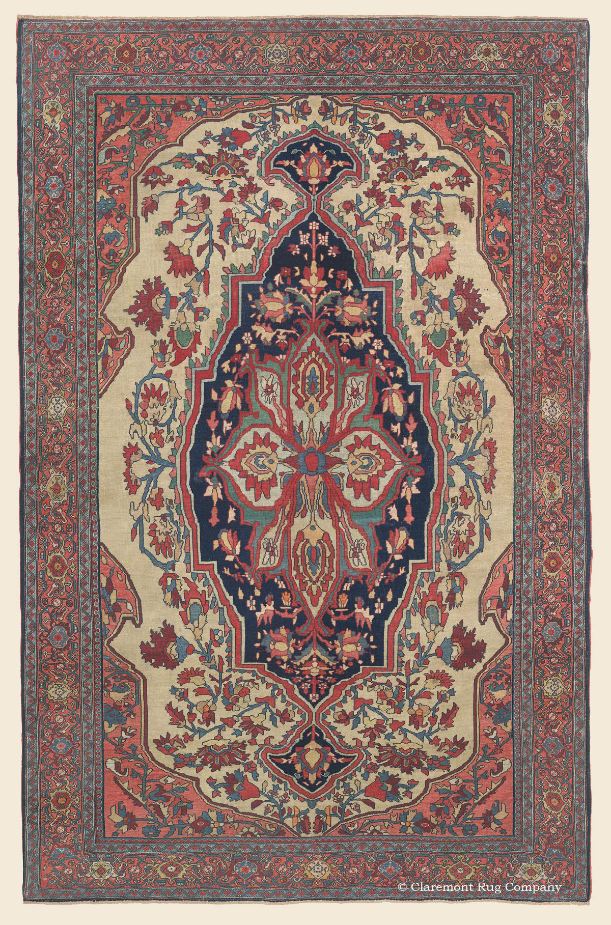 Connoisseur Caliber Ferahan Sarouk Rug With An Arboreal