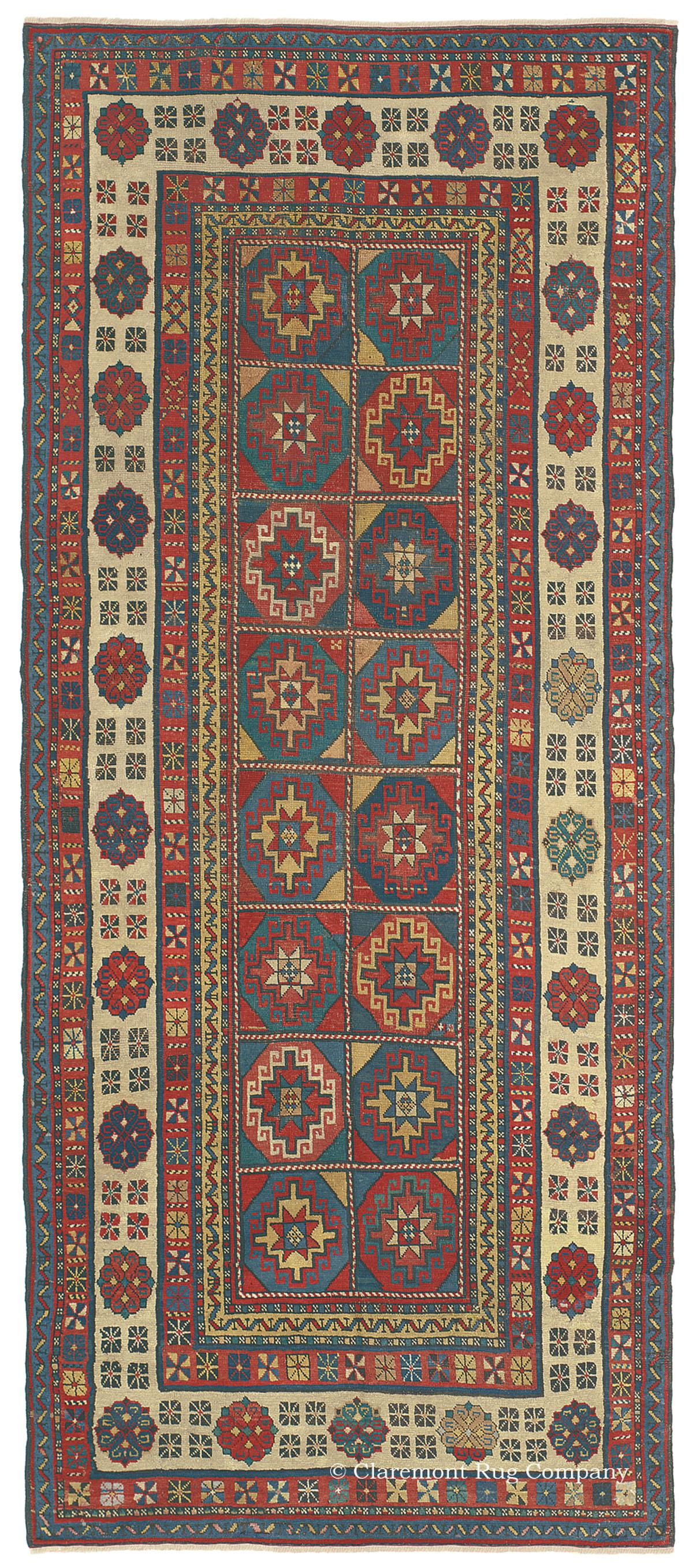 Masterful 19th Century Caucasian Antique Carpet