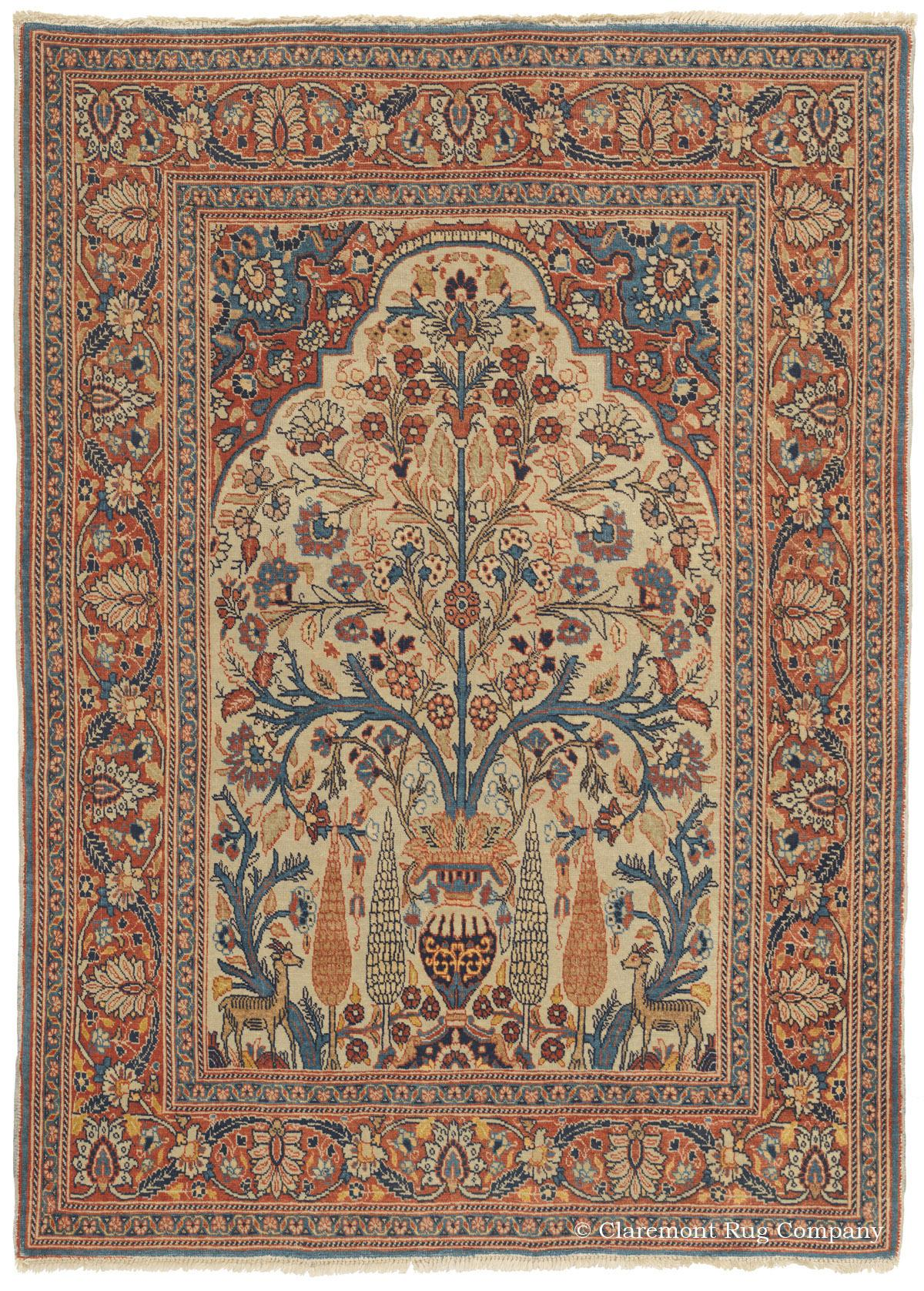 Antique Persian Tabriz Rug In Soft Colors