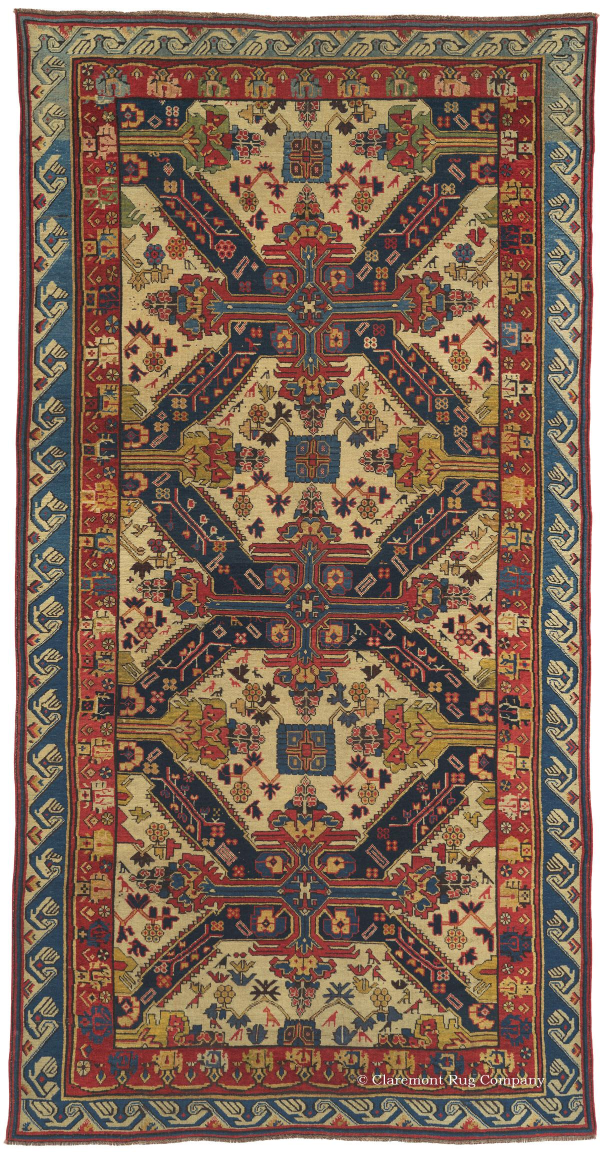 Seichur Kuba Antique Rug Circa 1825