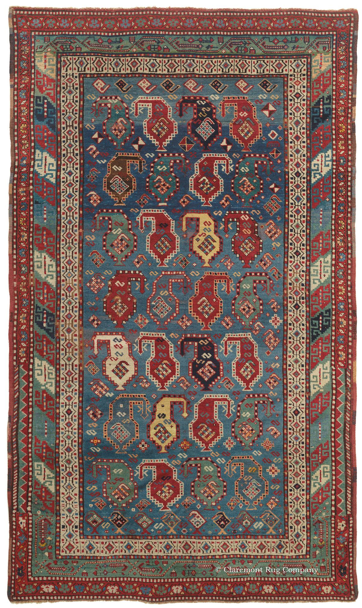 Richly Dyed Antique Caucasian Rug