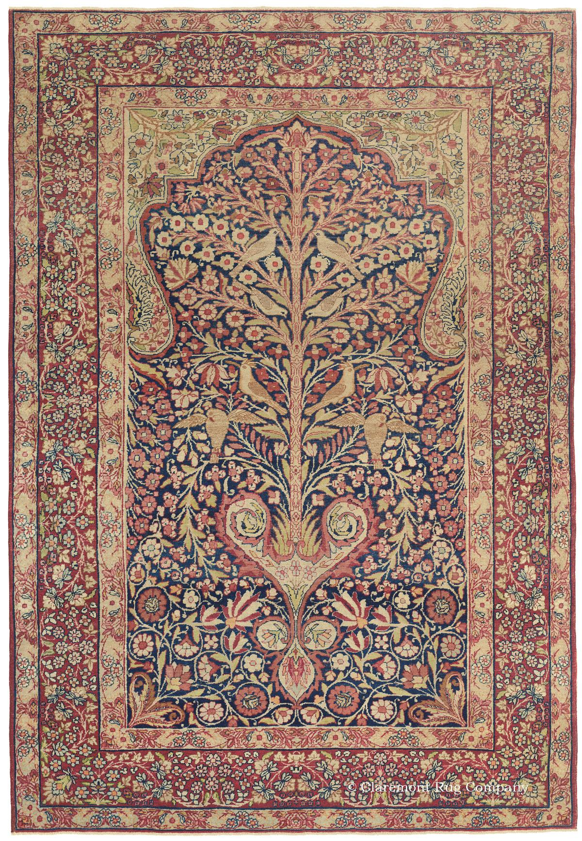 Antique Rug Featuring Tree Of Life Motif