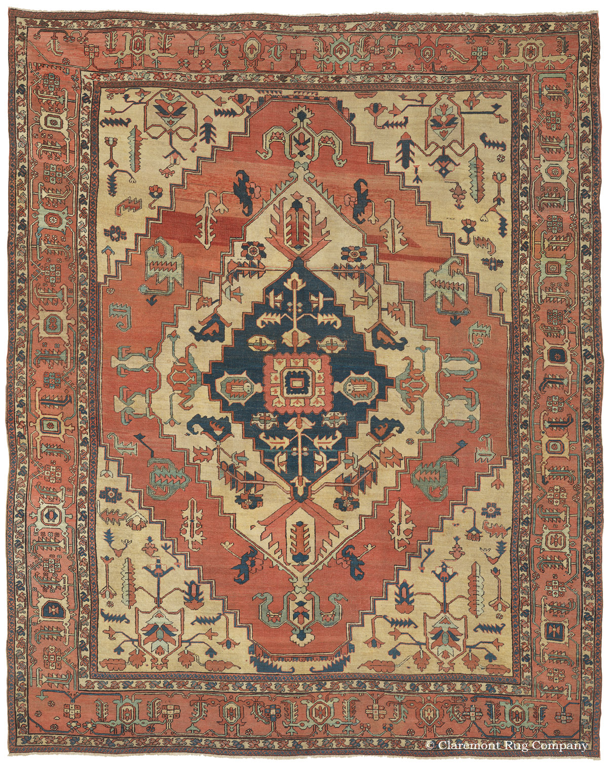 Fine 19th Century Serapis Include Some Of The Most Rare And Desirable Large  Size Decorative Carpets. Woven In The Rugged Mountains Of Northwest Persia,  ...