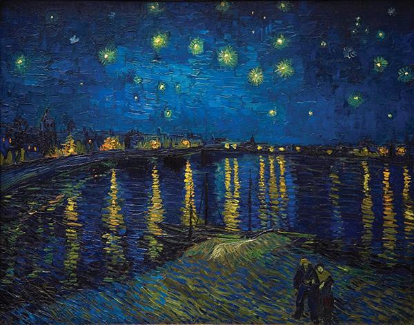 Van Gogh's Starry Night Over the Rhone, Vincent Van Gogh, 1888