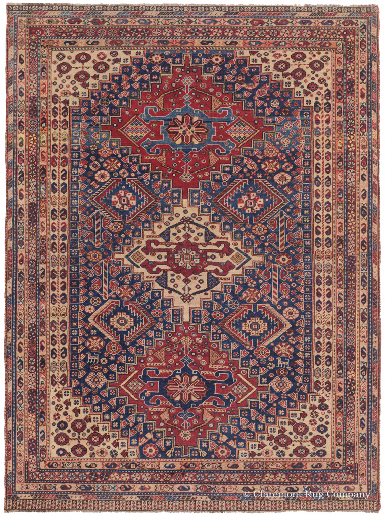 Southwest Persian Qashqai 19th Century Antique Rug