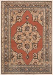 aNTIQUE pERSIAN Hadji Jallili Tabriz Oriental rug