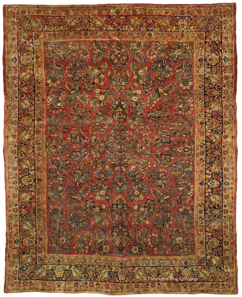 Persian Mahajiran Sarouk Antique Rug