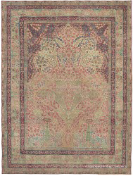 Laver Kirman tree of life antique rug
